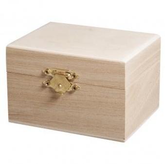 Drevená krabička / 9x7x6cm