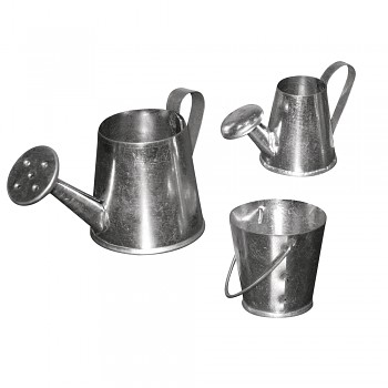 Metal set of pots, 3-5cm, set 3 pcs