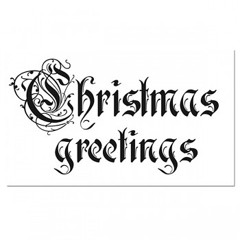 Stempel 11x7cm / Christmas Greetings