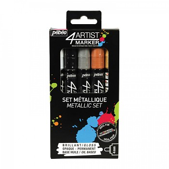 Oil markers 4 ARTIST / 4mm / Metallic set