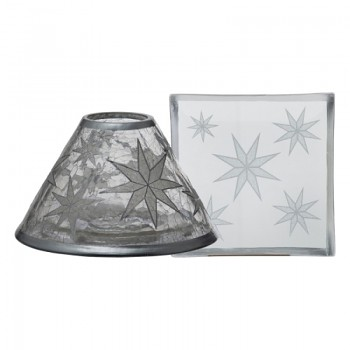 Large Shade & Tray Set / ARTIC SNOWFLAKE