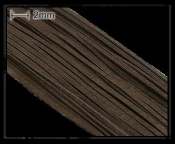 Lederband / 2 mm / dunkelbraun / 110cm