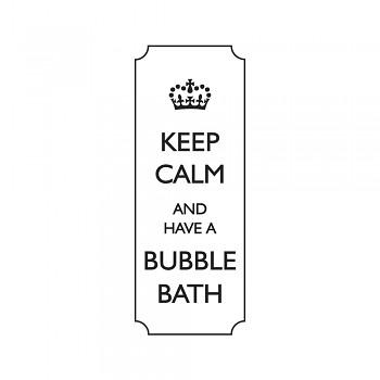 Drevené razítko / Keep calm and have a bubble... / 3x7cm