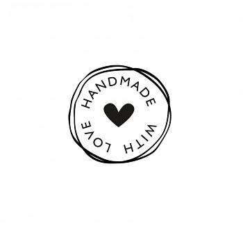 деревянный штaмп / Handmade with love / 3см