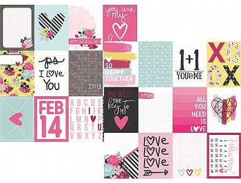 Love & Adore 3x4 Journaling Card Elements