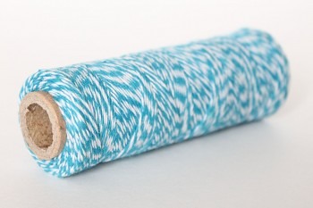 Twine 1mm / 45m / turquoise & white