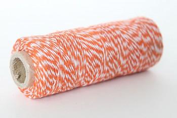 Twine 1mm / 45m / orange & white