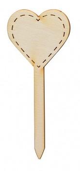 Wooden cut - heart / 12cm / 1pc