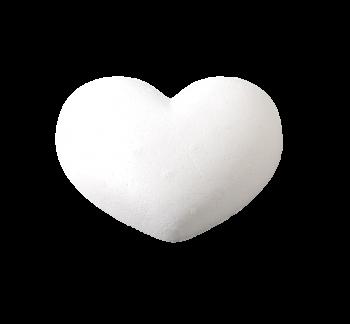 Styropor heart half 150 mm / 1pc