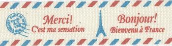 Cotton-Ribbon Merci / 1,5cm / 2m