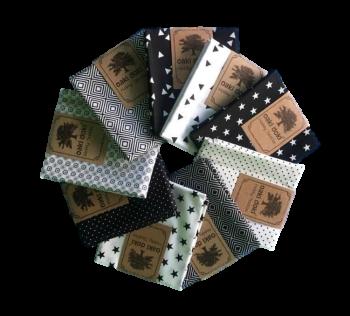 Cotton-fabric 50x70cm / Black & White