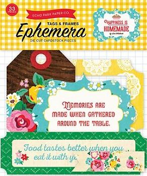 Happiness Is Homemade Ephemera Tags & Frames / papírové výřezy
