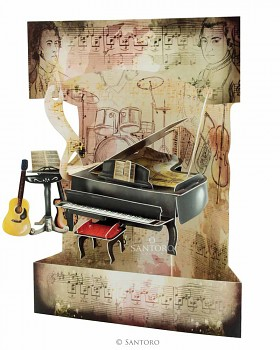 Piano & Music – 3D Swing Cards