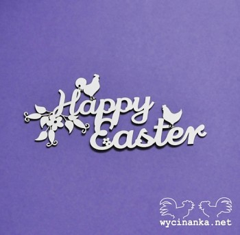 Chipboards - Happy Easter / 1pc