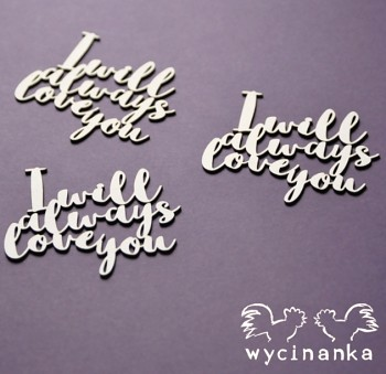 Chipboards - MR&MRS - I will always love you / 3pcs