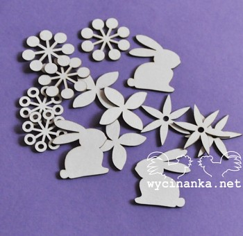 Chipboards - EASTER - meadow / 15pcs