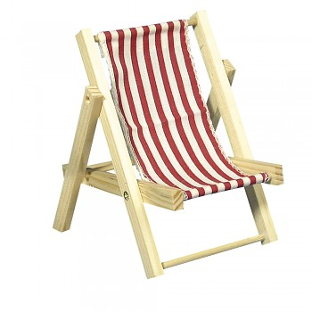 Wooden sunbed classical red / 14cm