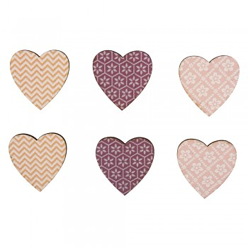 Wooden Objects Hearts / 3cm / 12pcs