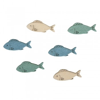 Wooden Objects Fishes / 3x1cm / 15pcs