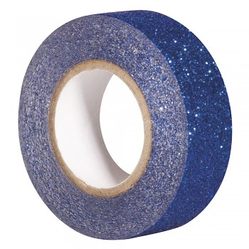Glitrová páska / 15mm x 5m / royal blue