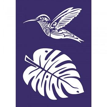 Stencil A4 / Hummingbird