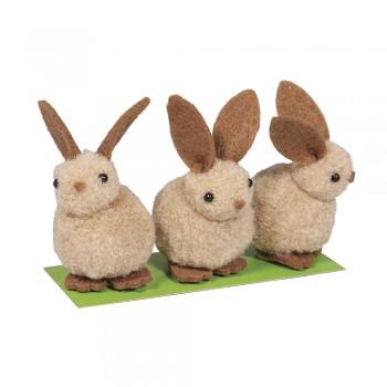 Flisový zajačik / 5cm / 3ks