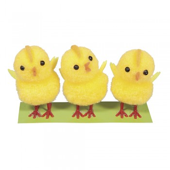 Fleece chick / 4,5cm / 3pcs