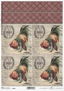 Rice decoupage paper A4 / ITD R1093