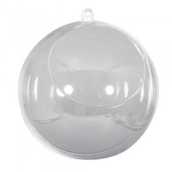 Plastová guľa s otvorom (2-dielna) / 12 cm