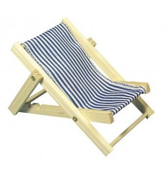 Wooden sunbed royal blue / 14cm