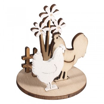 Wooden objects Chickens meadow / 2pc