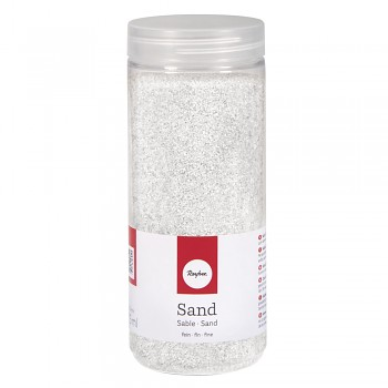 Sand, fine, 0.1-0.5mm, box 475ml, white