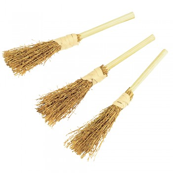 Decorative broom, 9,5 cm / 3pcs