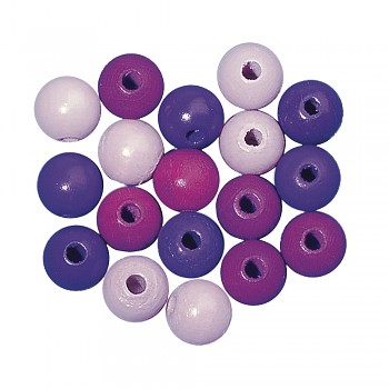 Wooden beads / 4mm / 150pcs / lilac tones