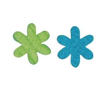 Filcové výrezy / 3cm / 12ks / modrá-zelená