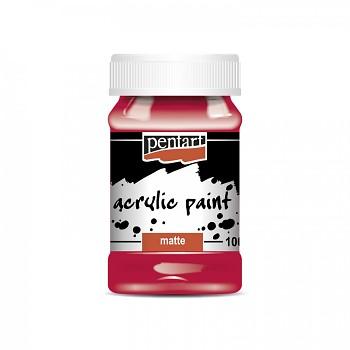 Pentart akrylová farba matná 100ml / karmínová červená