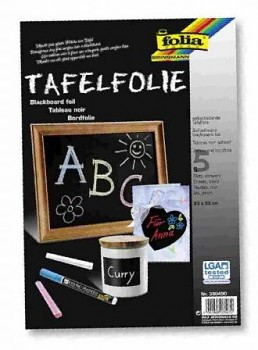 Foil for blackboard, self adhesive black / 23x33cm / 5pcs