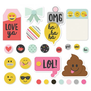 Emoji Love - Decorative Brads / Nity