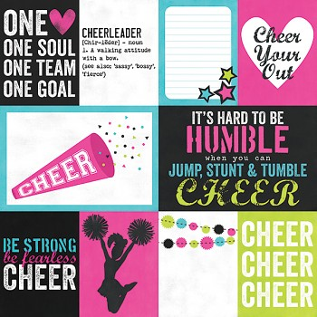 Cheer / 3x4 & 4x6 Journaling Card Elements