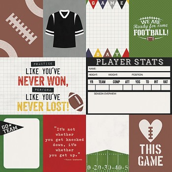 Football / 3x4 & 4x6 Journaling Card Elements