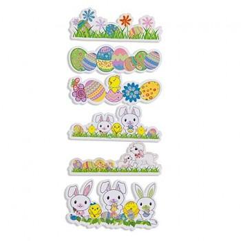3D Aufkleber  / Easter Garden / 6St.