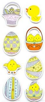 3D samolepky / Easter Eggs / 8ks