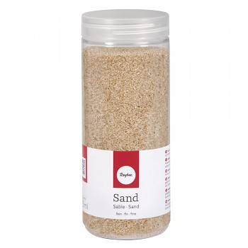 Sand, fine, 0.1-0.5mm, box 475ml, beige