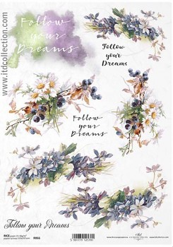 Rice decoupage paper A4 / ITD R866
