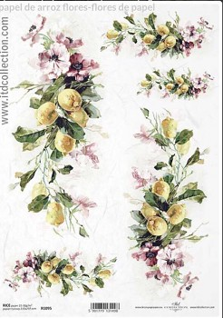 Rice decoupage paper A4 / ITD R1095