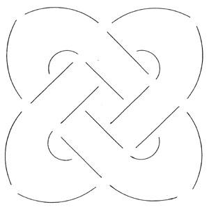 Quilt šablóna / Big Knot