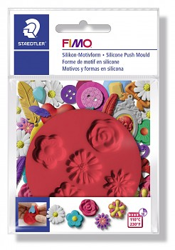 Fimo Silicone Push Mould / Flowers