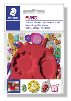 Fimo Silicone Push Mould / Cameo