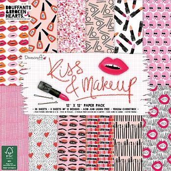 """Kiss & Makeup / 12x12"""" / Sada papierov / 36 ks"""