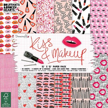 "Kiss & Makeup / 12x12"" / Sada papierov / 36 ks"
